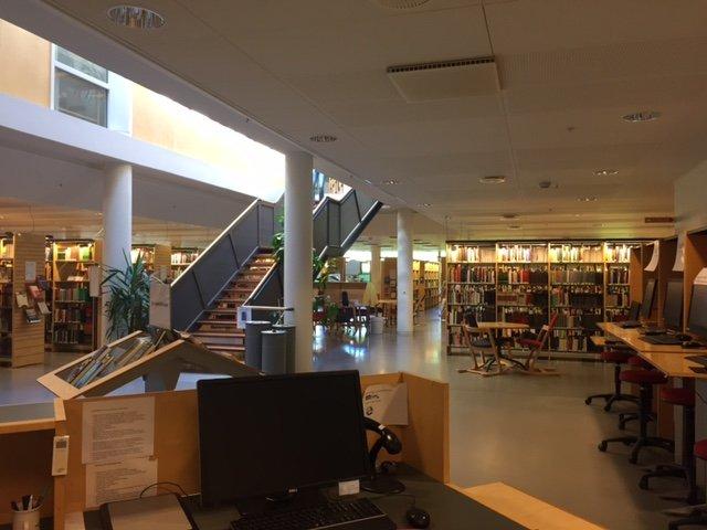 vista biblioteca des de mostrador