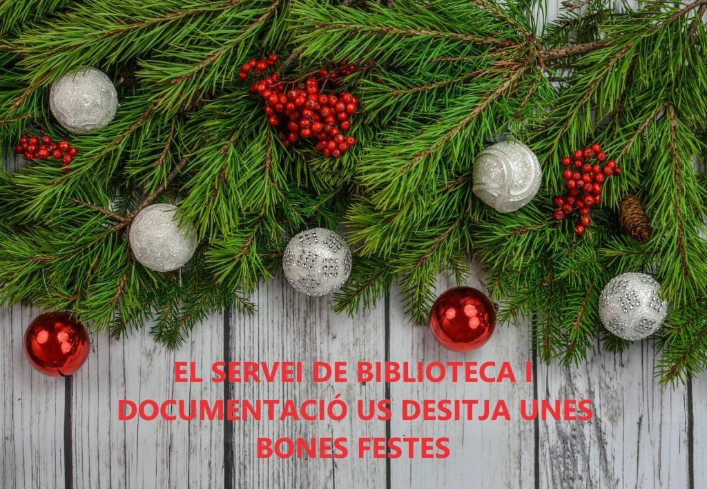Vacances de Nadal i horaris extraordinaris
