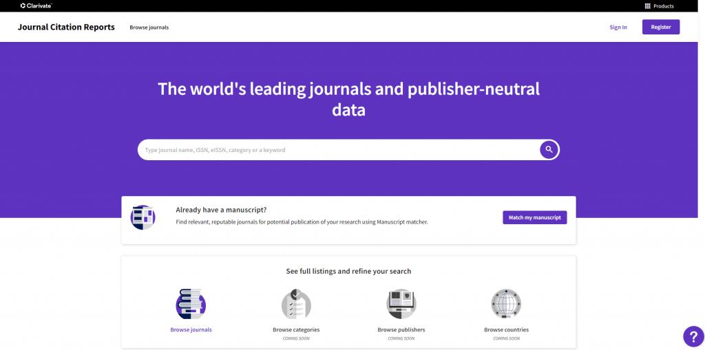 Publicada nueva edición JCR 2021 (datos 2020)