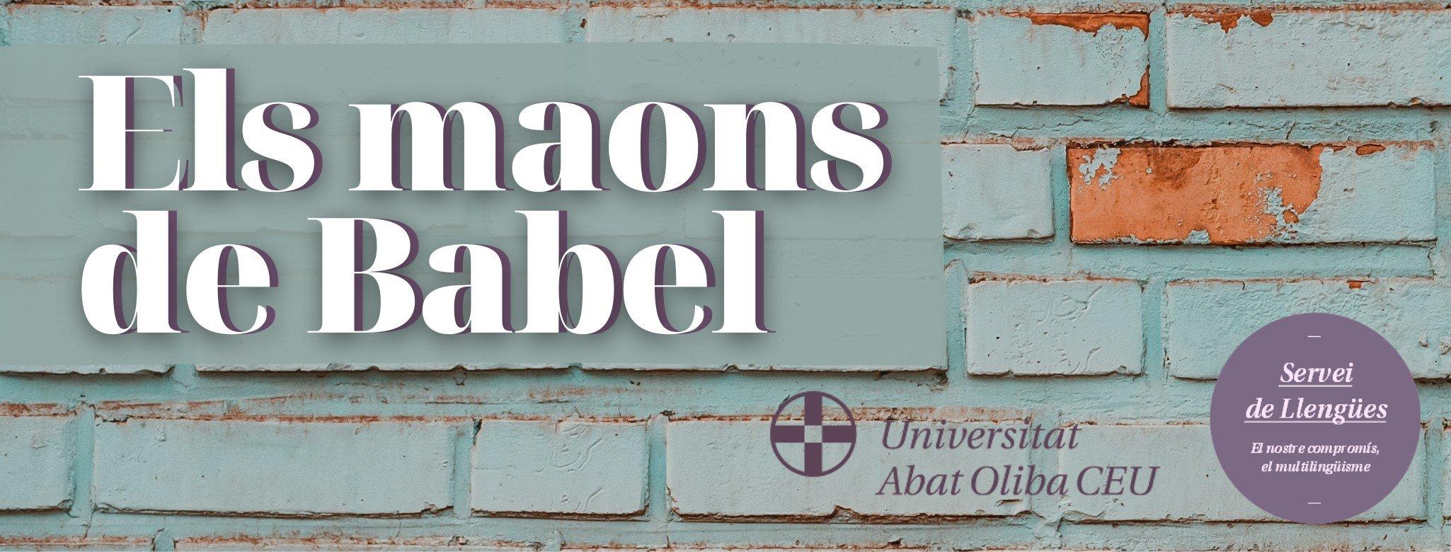 Maons de Babel per a una torre multilingüe