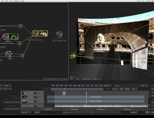 Autodesck Flame. Captura de pantalla
