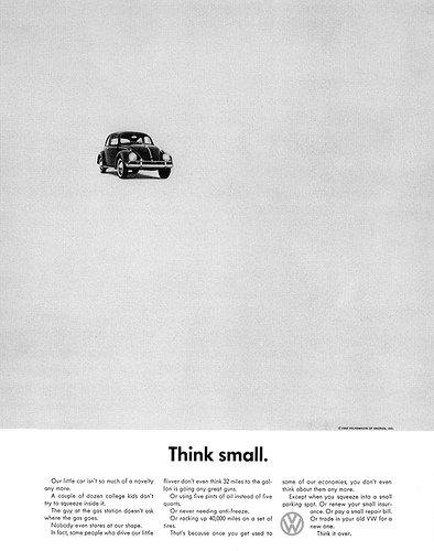 El Think Small de Bernbach