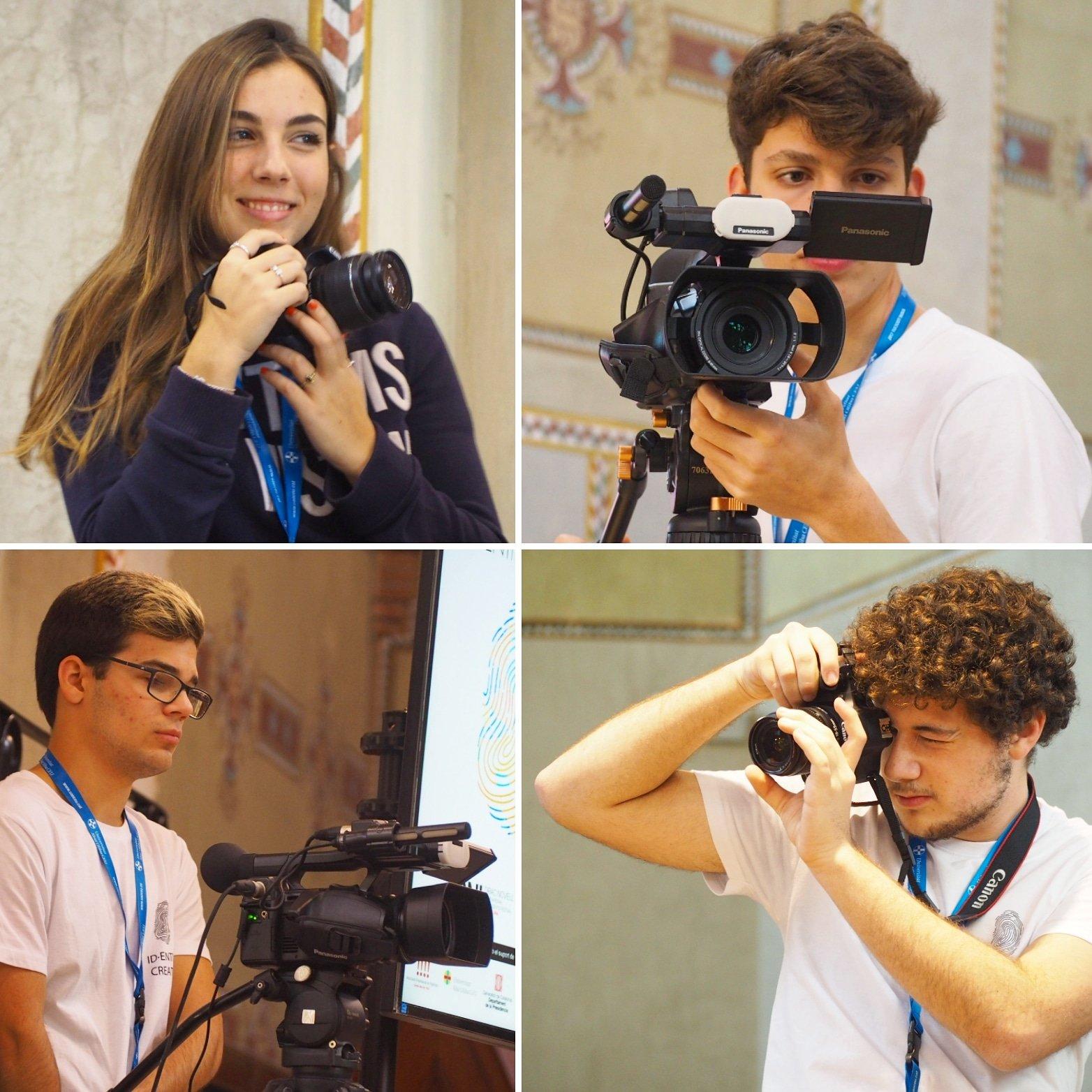 Estudiantes organizadores del Drac Novell 18 y 19