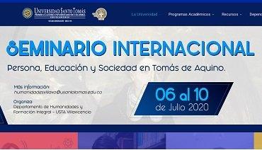 """PROSOPON en el Seminario internacional """"Persona, educación y sociedad en santo Tomás de Aquino"""" (USTA Colombia)"""