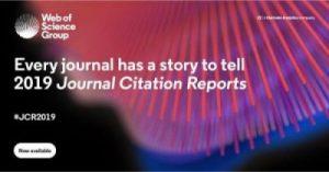 Web of Science Group publica els Journal Citation Reports (JCR) 2019